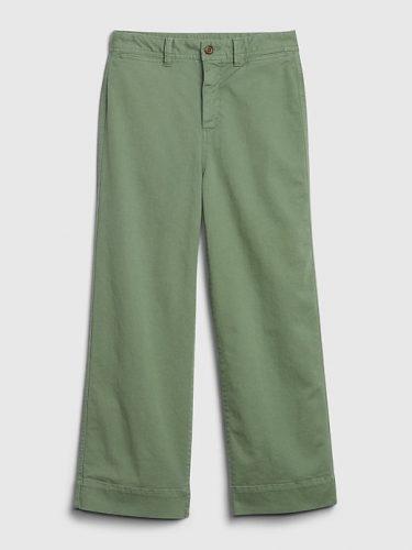 Earth tone fashion guide: Gap sage green trousers