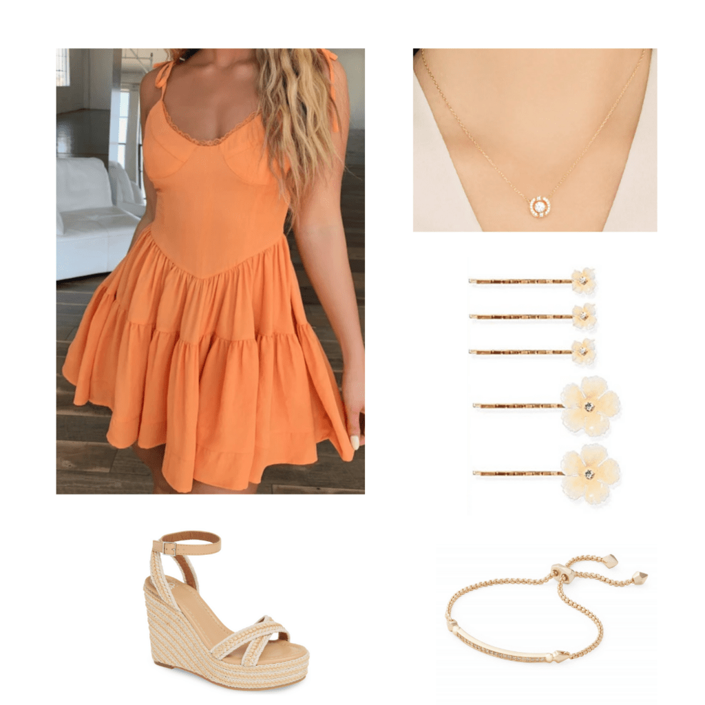 Dressy birthday outfit with accessories