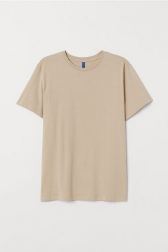 Earth tone fashion guide: Beige t-shirt from H&M