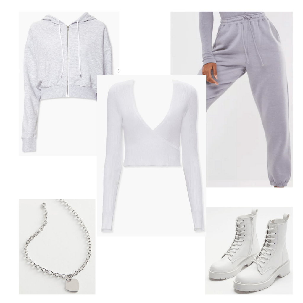 Joggers outfit with accessories