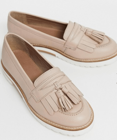 dusty pink loafers with fringe, shoes for different occasions