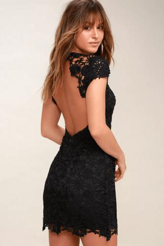 Lulus black lace dress