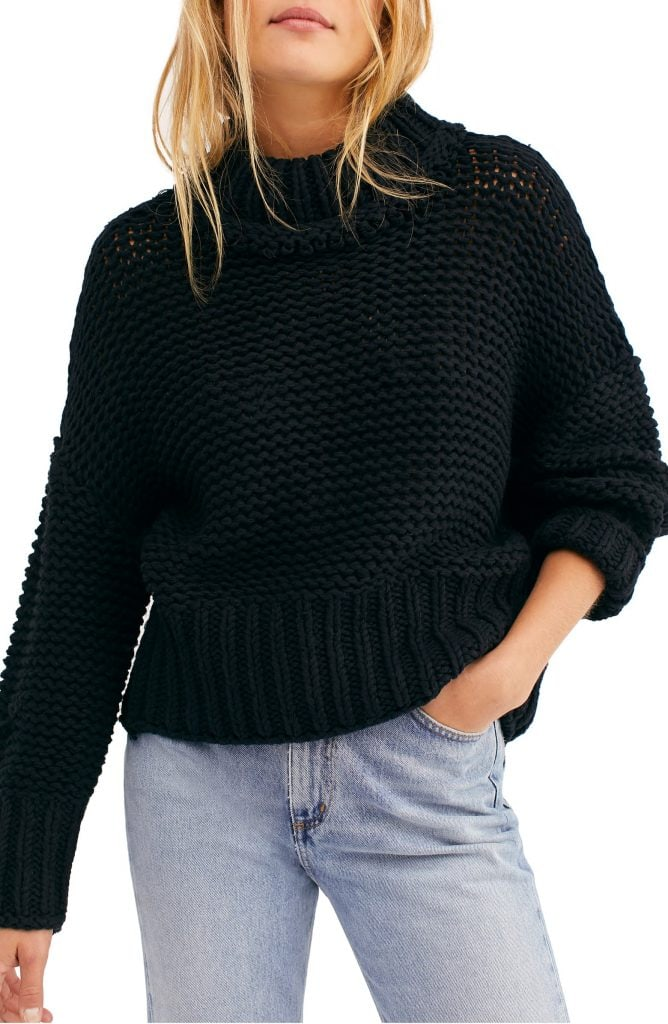 Free People sweater - wardrobe essentials for college
