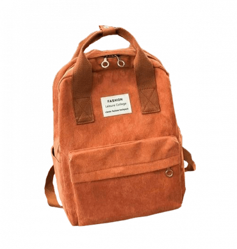 Rust colored suede backpack