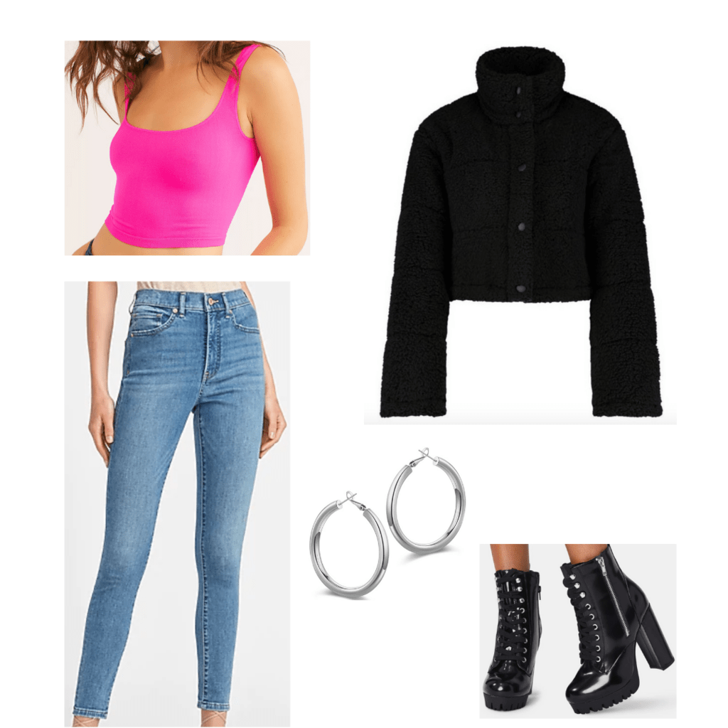 Cute fall outfits: Puffer jacket outfit with accessories