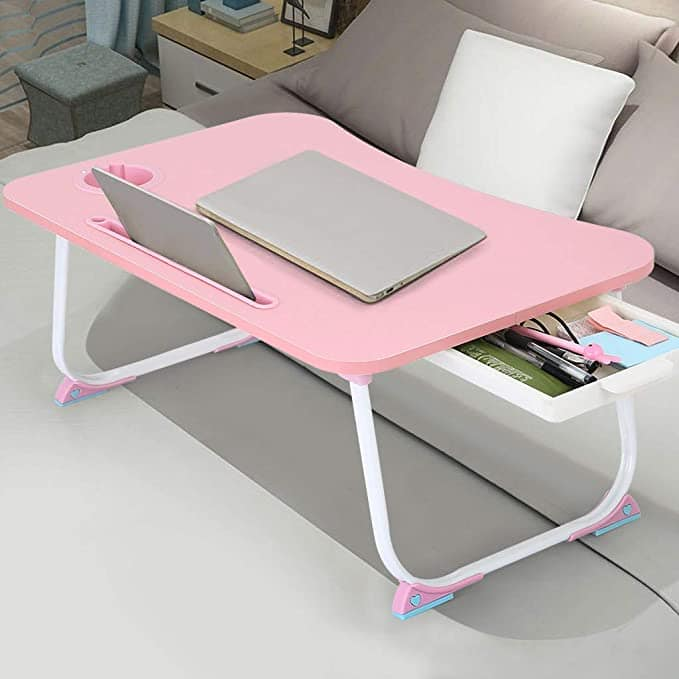Things you need for online classes: Foldable laptop desk in pink