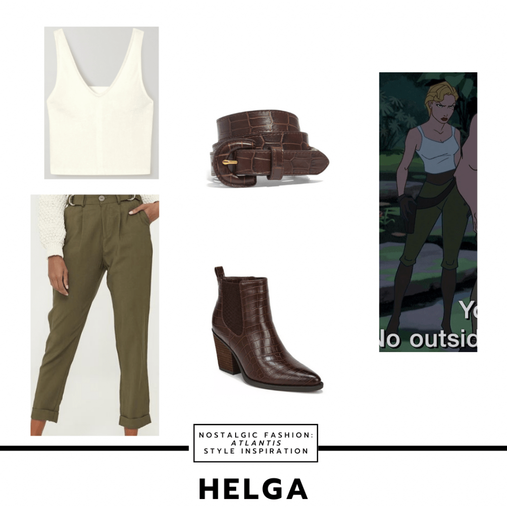 Outfit inspired by Helga's style from Atlantis the Lost Empire