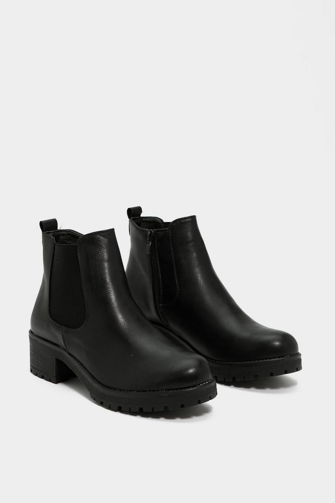 A pair of black Chelsea boots from NastyGal