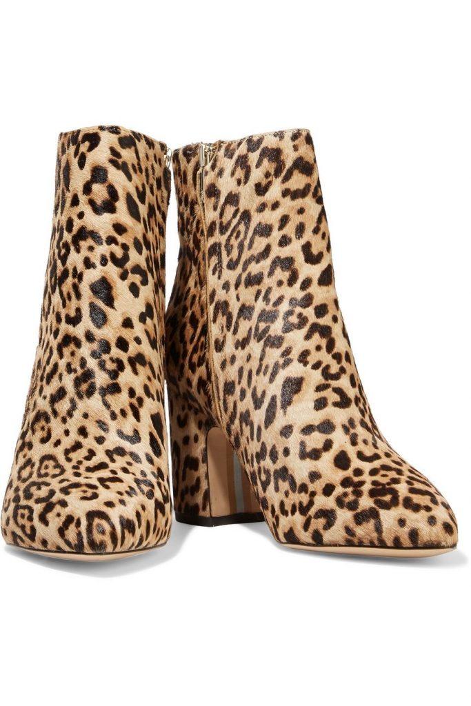 A pair of Sam Edelman animal print boots