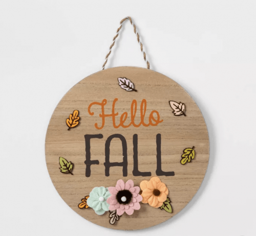 Cute fall room decor ideas - Hello fall sign from Target