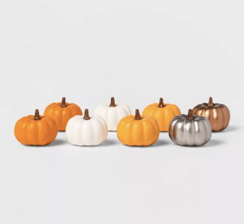 Mini decorative pumpkins from Target