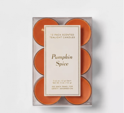 Pumpkin spice candle set from Target