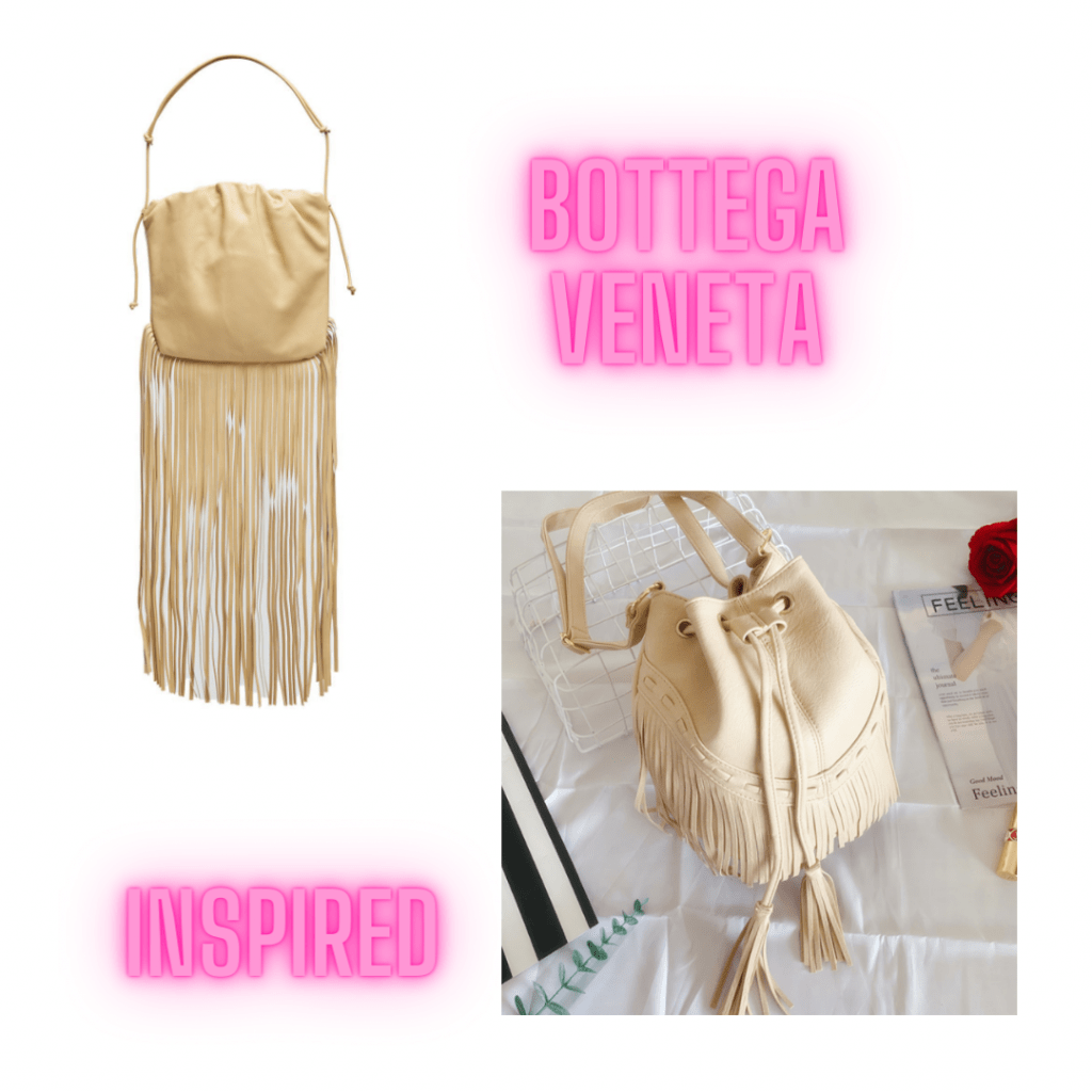 bottega veneta beige fringe handbag