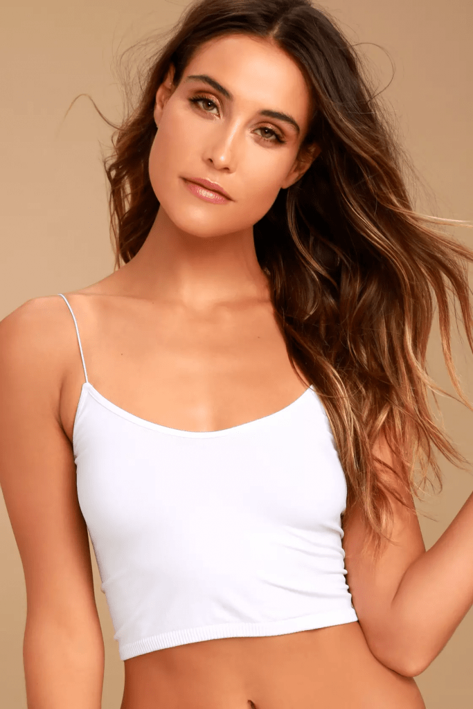 White brami top from Lulus