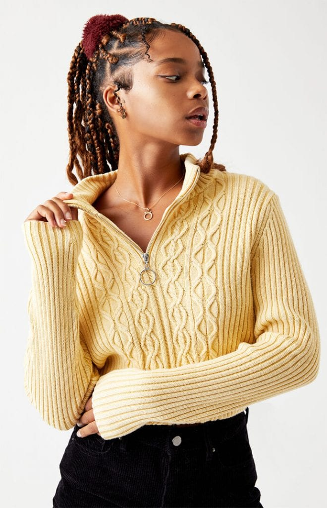 LA Hearts cable knit sweater