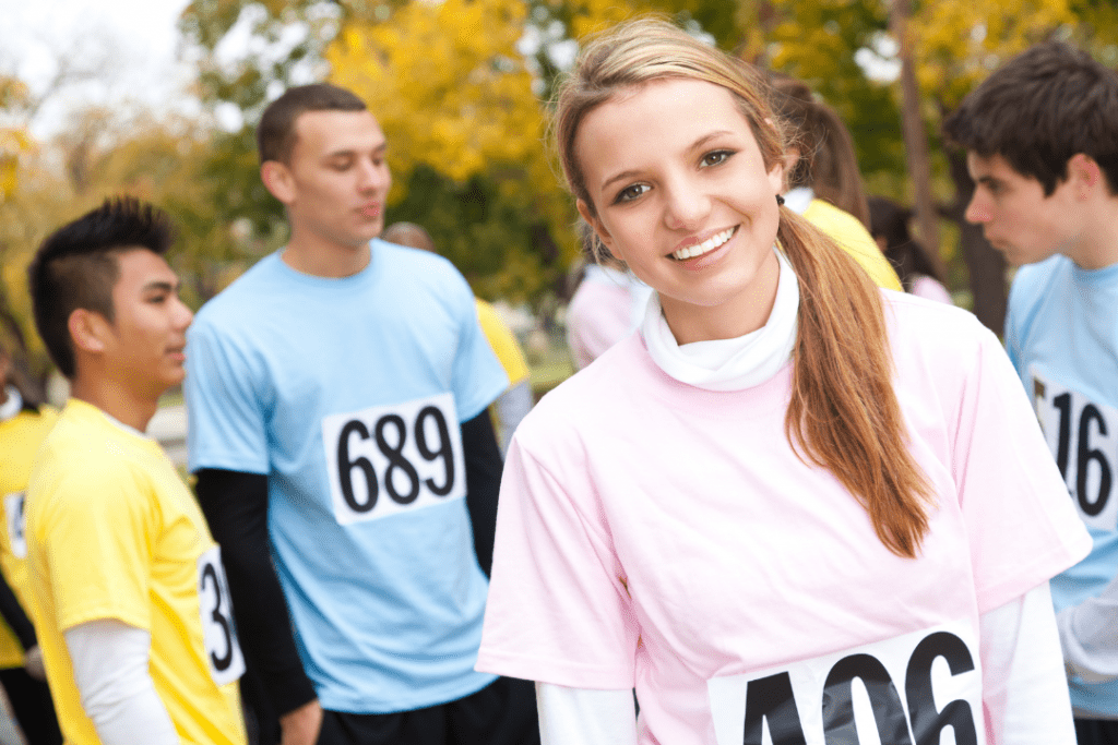 Charity runners