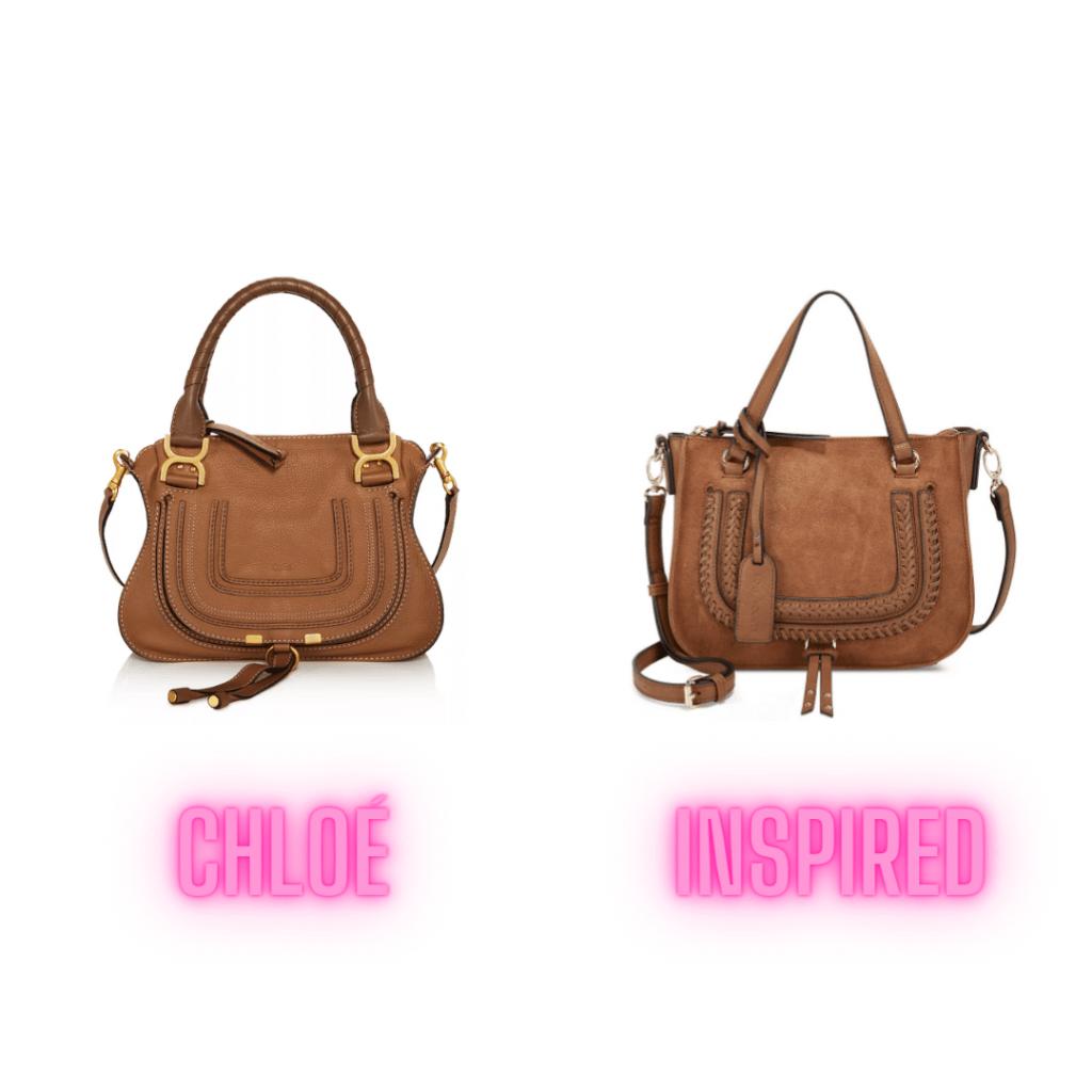 mini chloe marci brown handbag