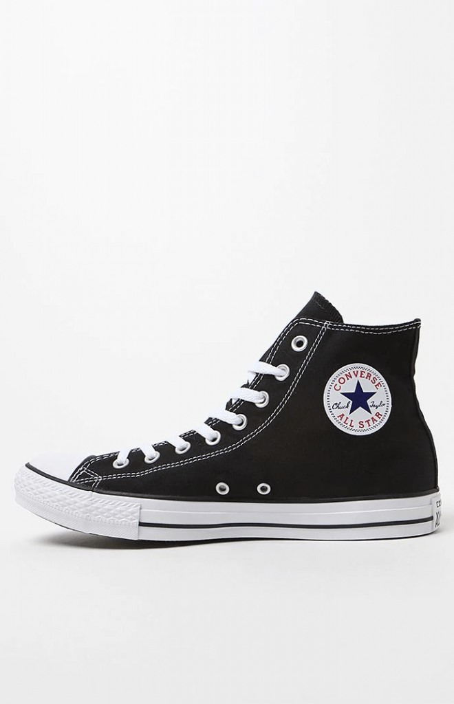 Converse chucks in black high top