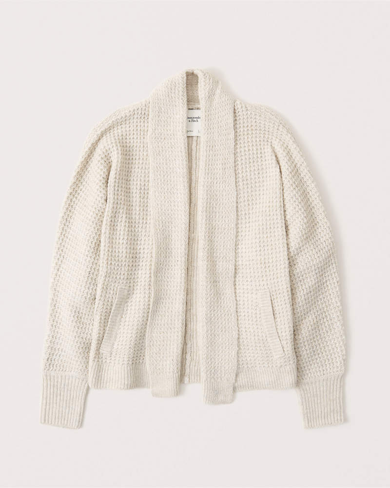 Textured dolman sleeve cardigan