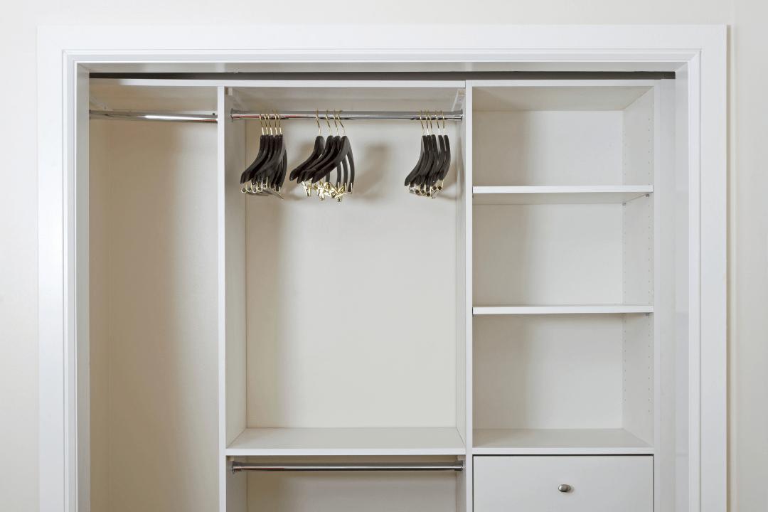 Photo of an empty closet