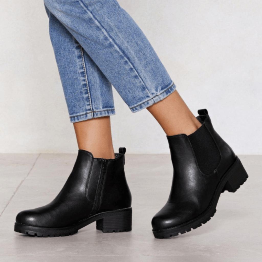 Nasty Gal chunky heel fall boots