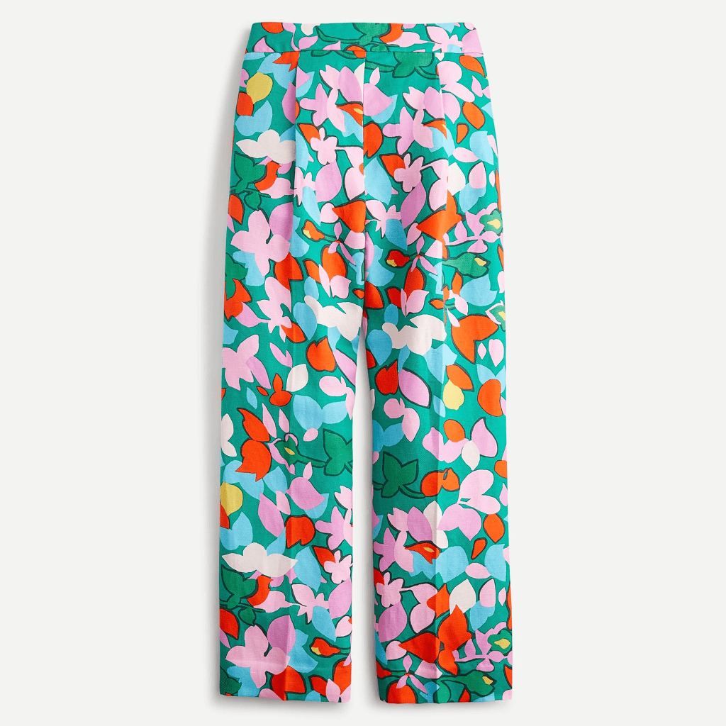 J.Crew printed wide leg pants