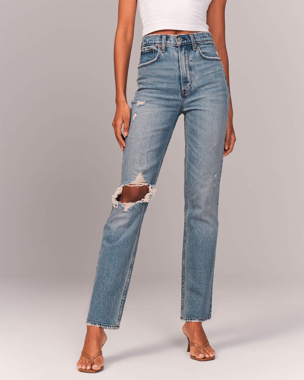 Abercrombie & Fitch 90s Ultra High Rise Straight Jeans