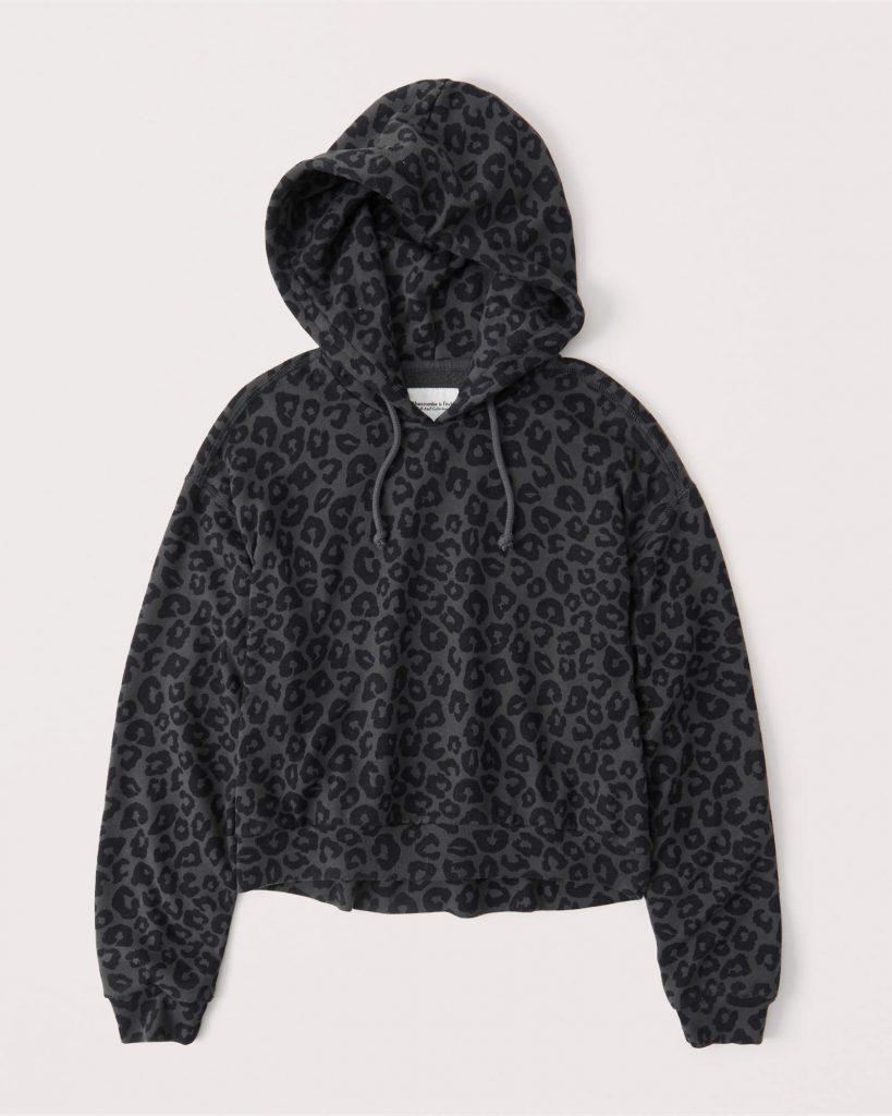 Leopard print hoodie