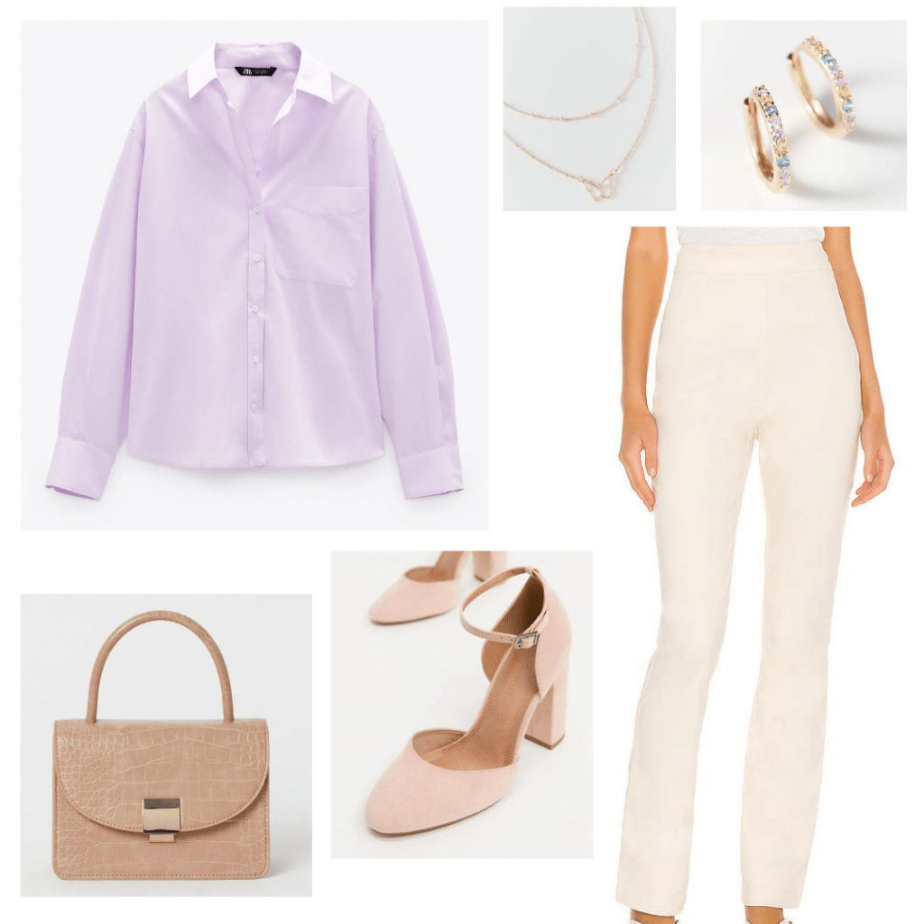 Education and healthcare outfit - purple