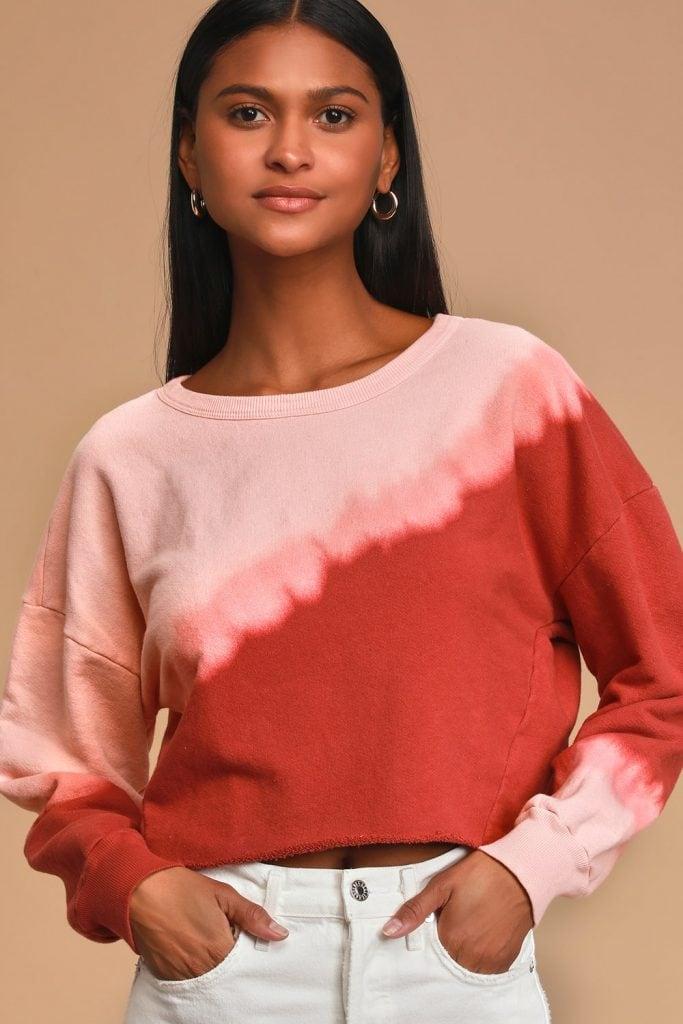 Lulus dip dye sweater