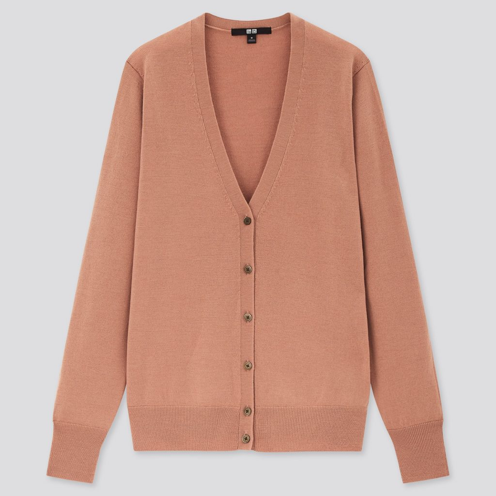 V-neck cardigan from Uniqlo