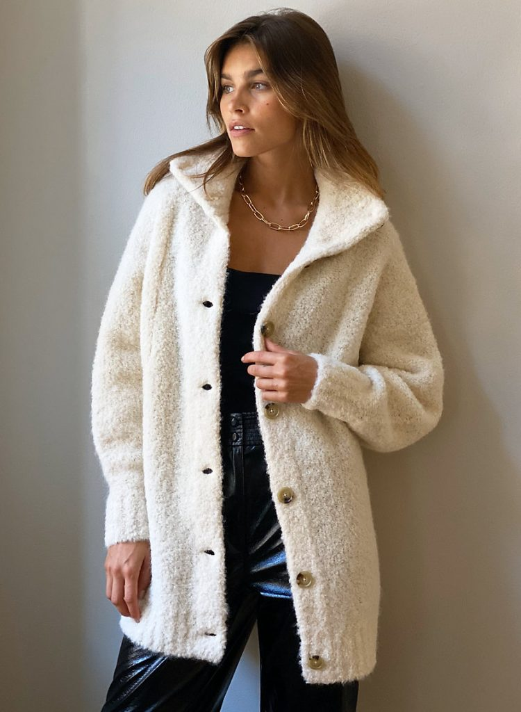 Sweater coat from Aritzia