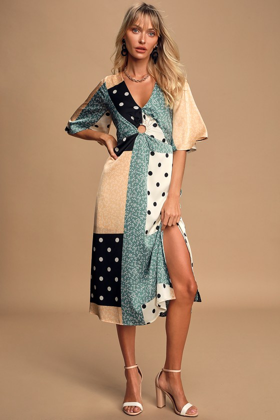 Patchwork dress from Lulus