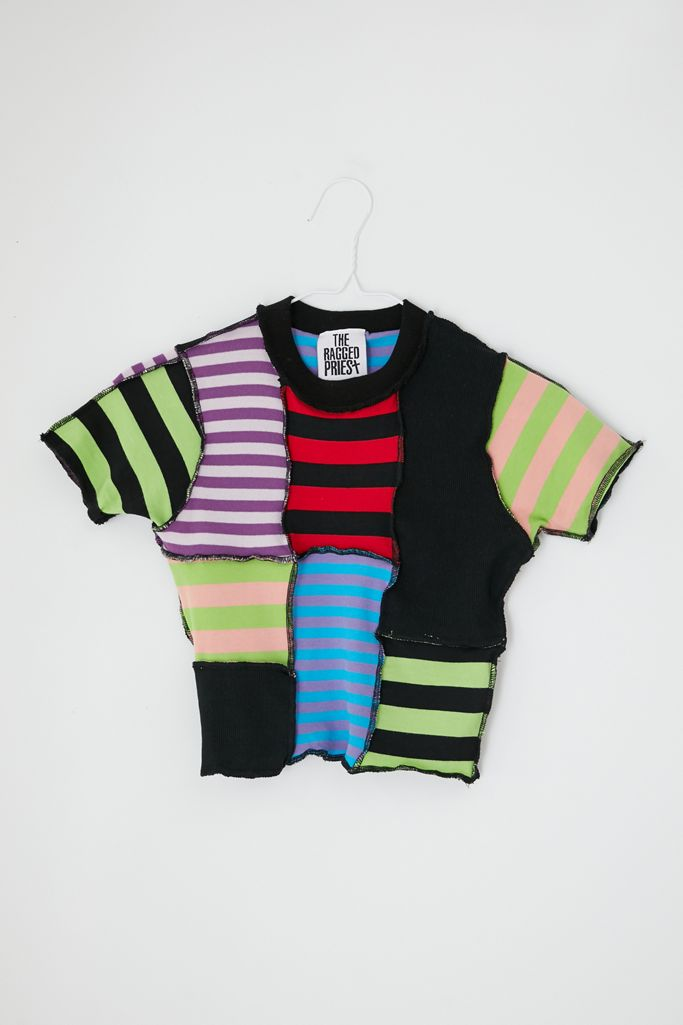 UO patchwork cropped tee