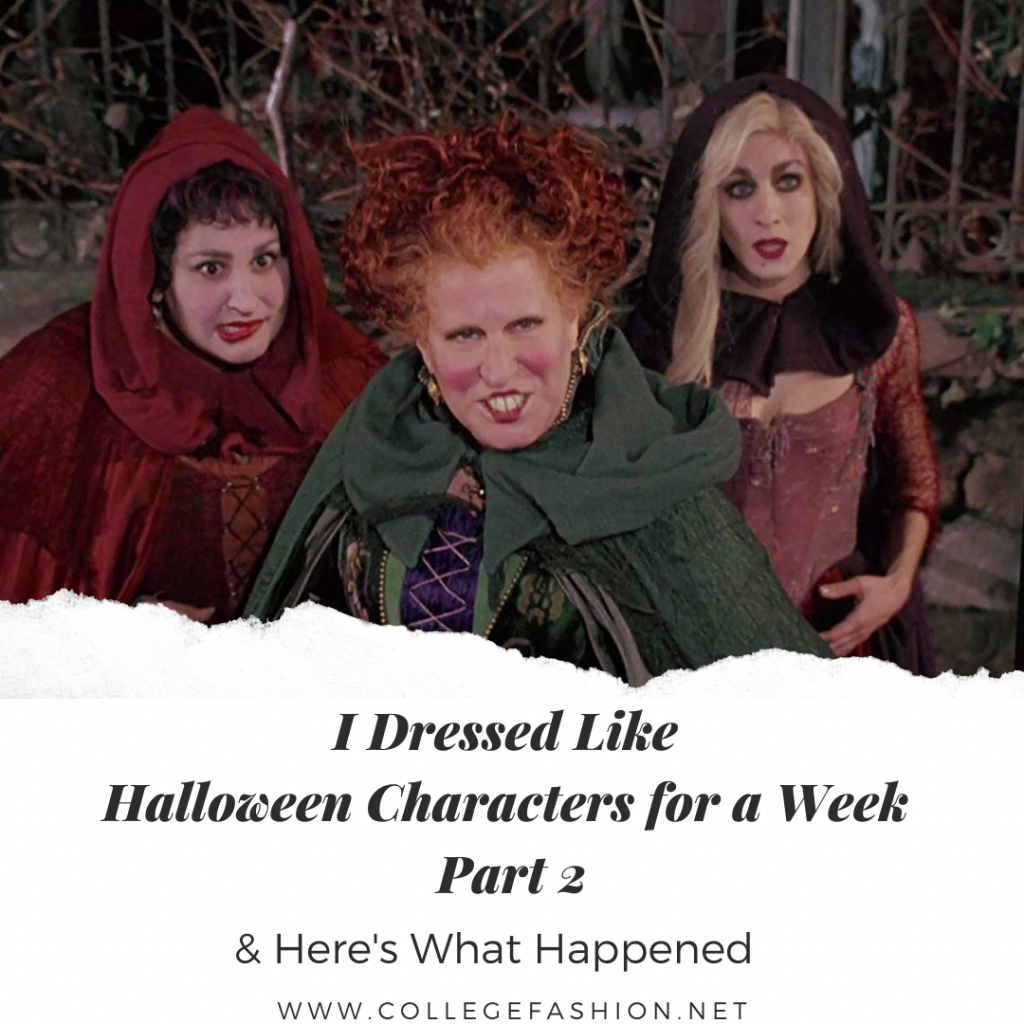 I dressed like Iconic Halloween characters