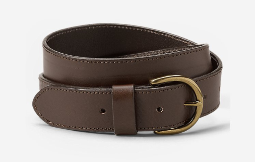 Product photo of a brown belt from Eddie Bauer