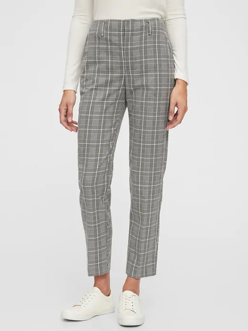 Product photo of plaid pants from Gap