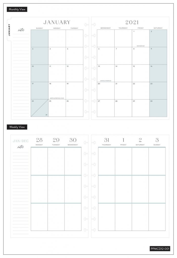 The Happy Planner minimalist vertical view