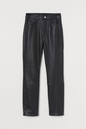 H&M Black Faux Leather Pants