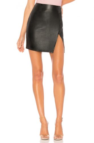 Superdown Trinity Faux Leather Skirt