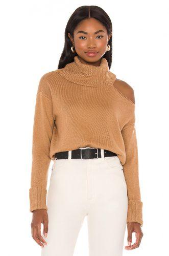 1. State Turtleneck Cold Shoulder Sweater