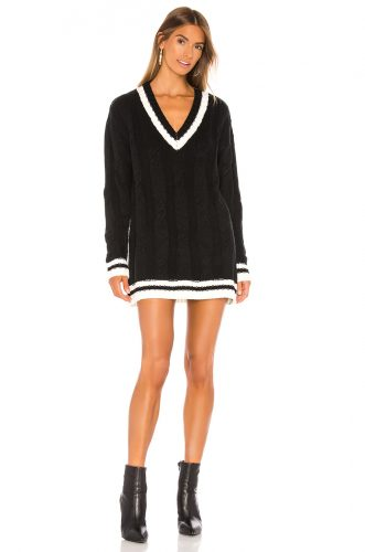supernowa Shawnie Varsity Sweater Dress