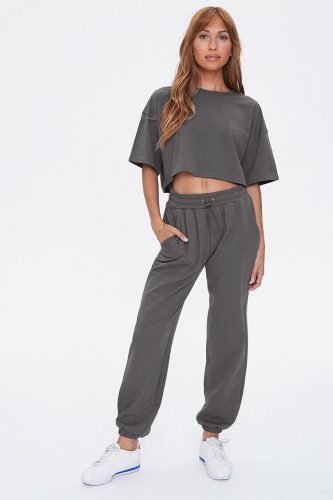 Cozy loungewear sets - Forever 21 Cropped Tee and Joggers Set