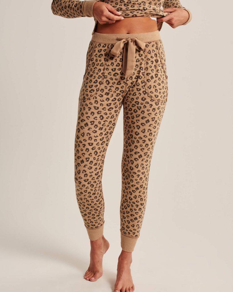 Abercrombie &. Fitch Leopard Print Joggers