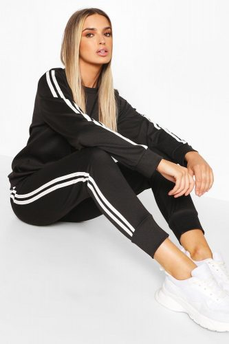 Boohoo Side Stripe Lounge Set