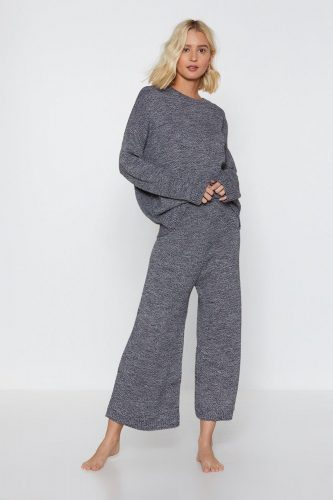 Cozy loungewear picks - Nasty Gal You've Met Your Match Knitted Sweater and Pants Set
