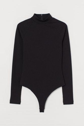 H&M Ribbed Jersey Thong Bodysuit