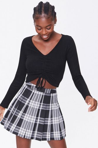Forever 21 Pleated Plaid Mini Skirt