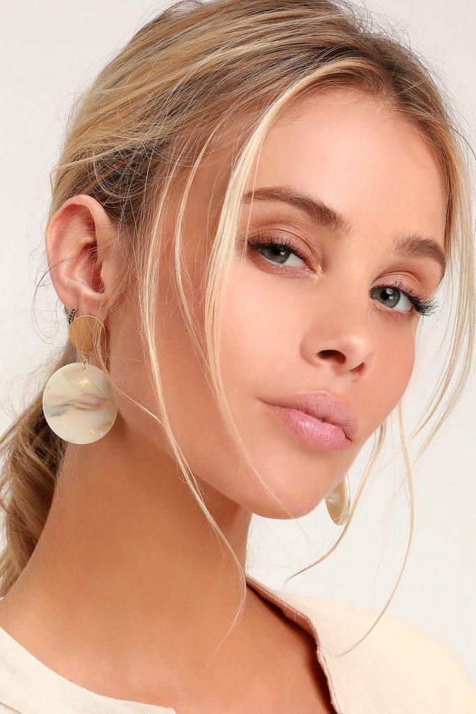 Lulus boho style rounded earrings