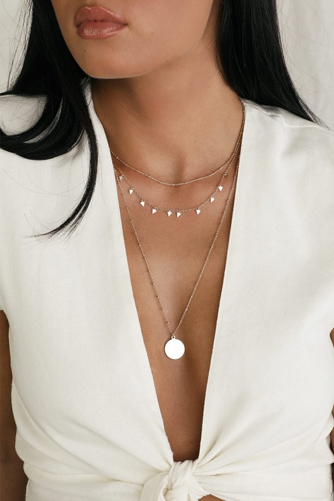 Lulus boho style necklace with layered coins